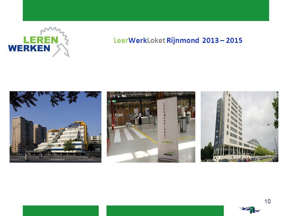 LeerWerkLoket Rijnmond 2013 – 2015 10