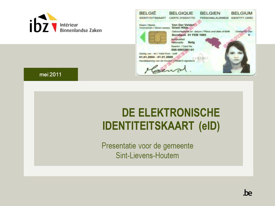22 De kaartlezer : installatie De eID software wordt geïnstalleerd Klik op