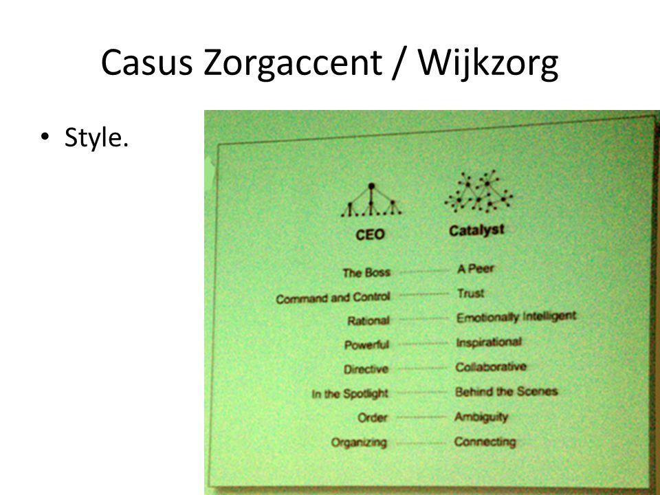 Casus Zorgaccent / Wijkzorg Style.