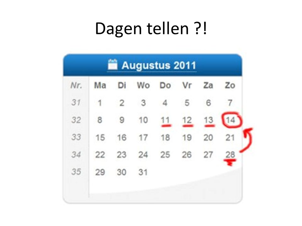 Dagen tellen ?!