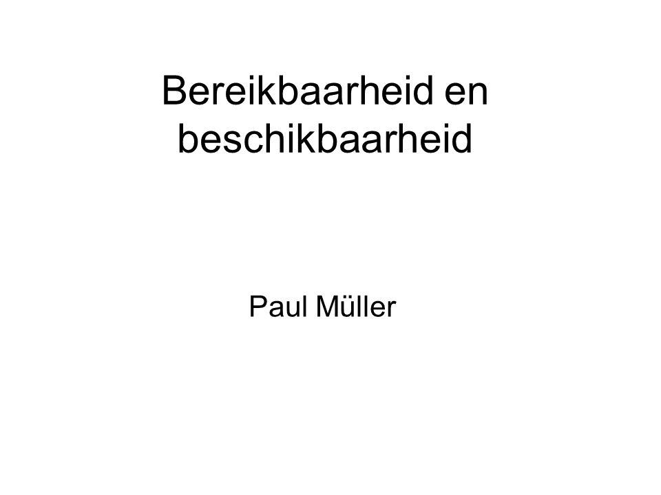 Bereikbaarheid en beschikbaarheid Paul Müller