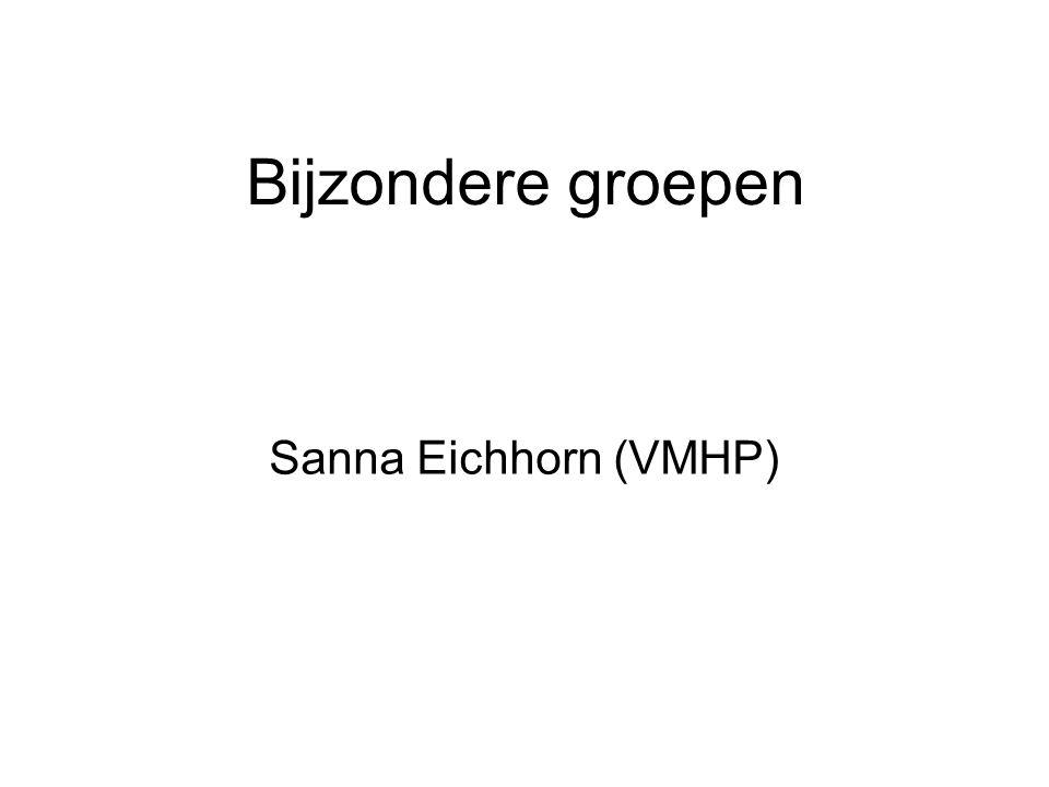 Bijzondere groepen Sanna Eichhorn (VMHP)