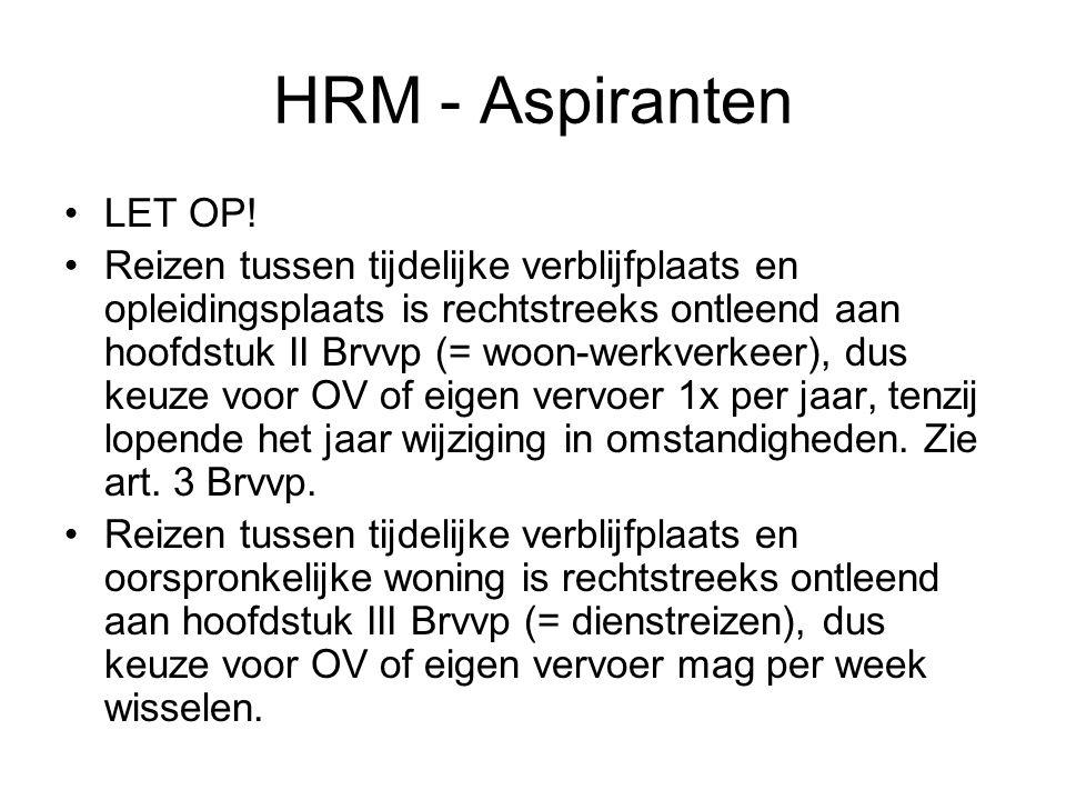 HRM - Aspiranten LET OP.