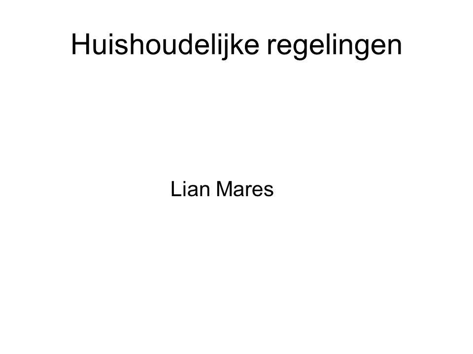 Huishoudelijke regelingen Lian Mares