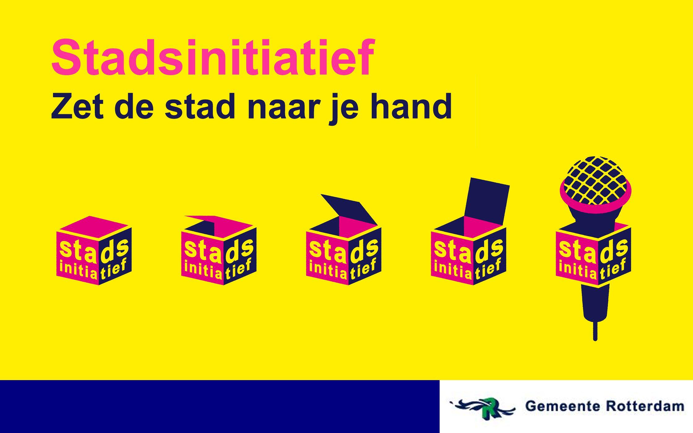 Contact Team Stadsinitiatief website: www.stadsinitiatief.nl e-mail: stadsinitiatief@rotterdam.nl telefoon: 010 - 498 4254 facebook:Stadsinitiatief Rotterdam youtube: Stadsinitiatief twitter: @Stadsinitiatief