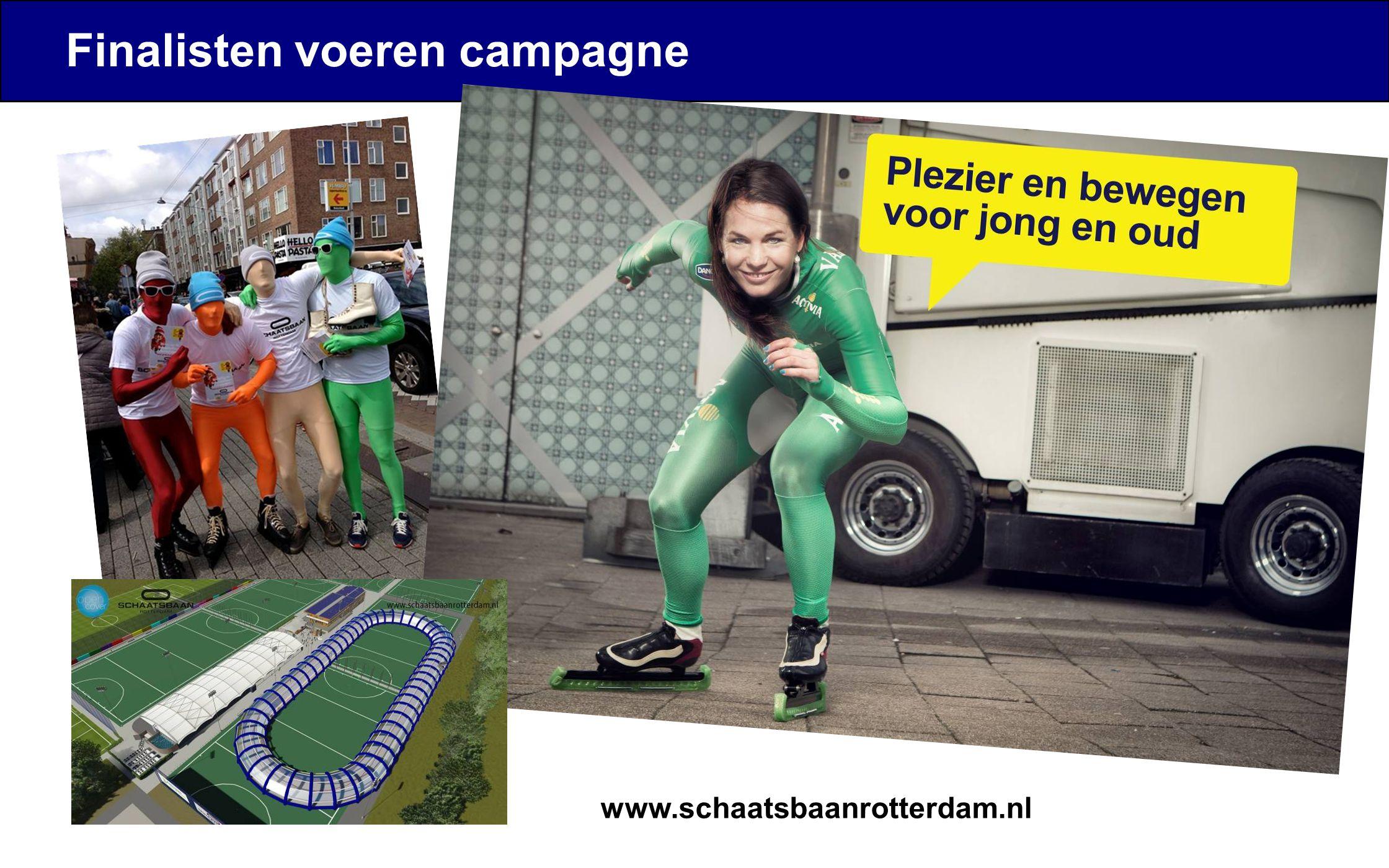 Finalisten voeren campagne www.schaatsbaanrotterdam.nl