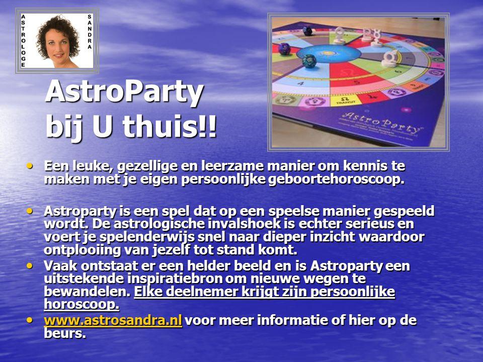 AstroParty bij U thuis!! Een leuke, gezellige en leerzame manier om kennis te maken met je eigen persoonlijke geboortehoroscoop. Een leuke, gezellige