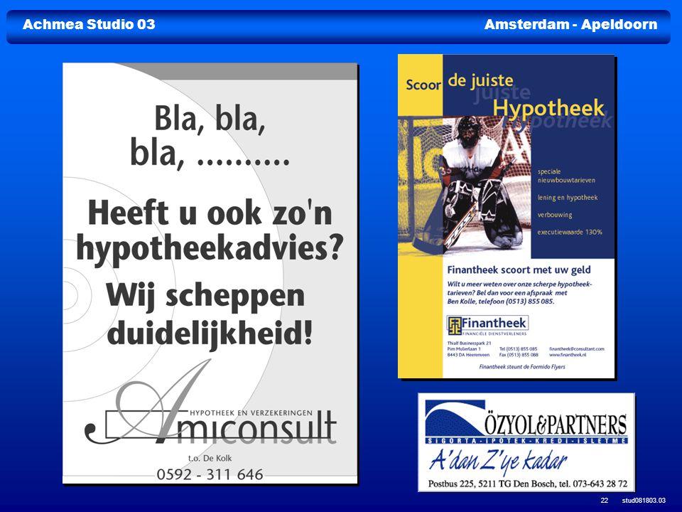 Achmea Studio 03Amsterdam - Apeldoorn stud081803.03 22