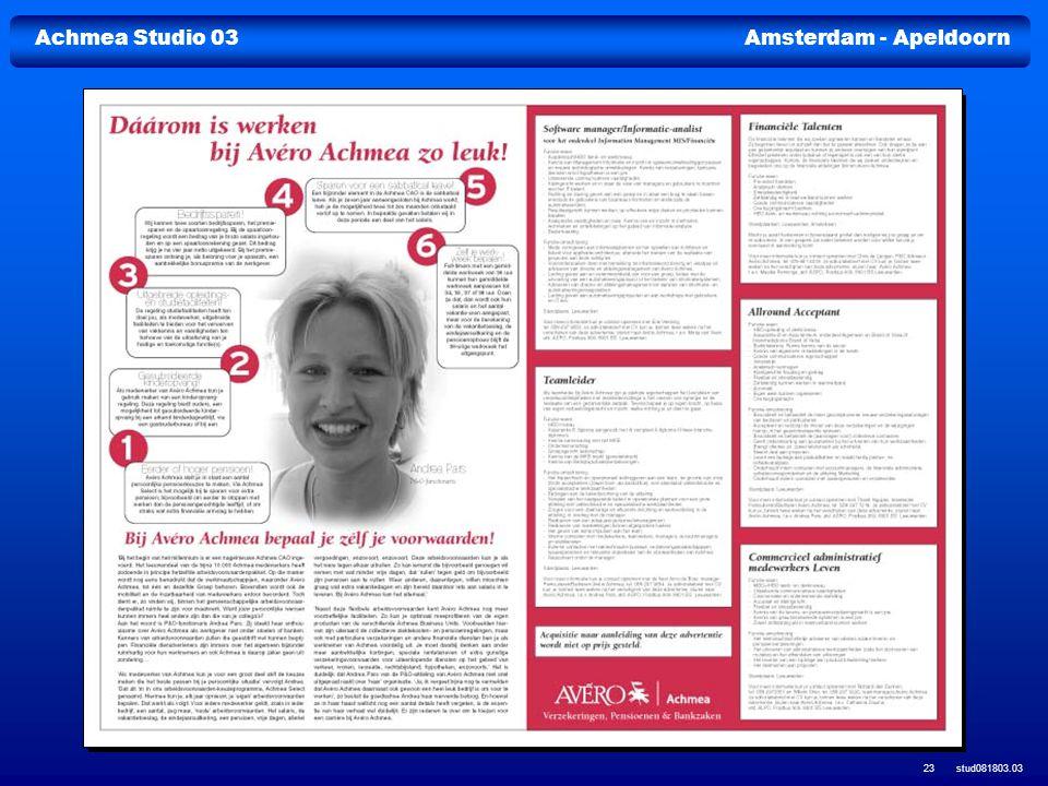 Achmea Studio 03Amsterdam - Apeldoorn stud081803.03 23