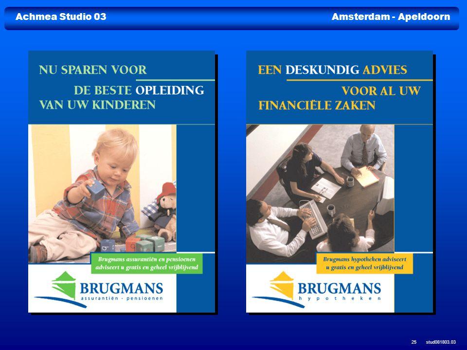 Achmea Studio 03Amsterdam - Apeldoorn stud081803.03 25
