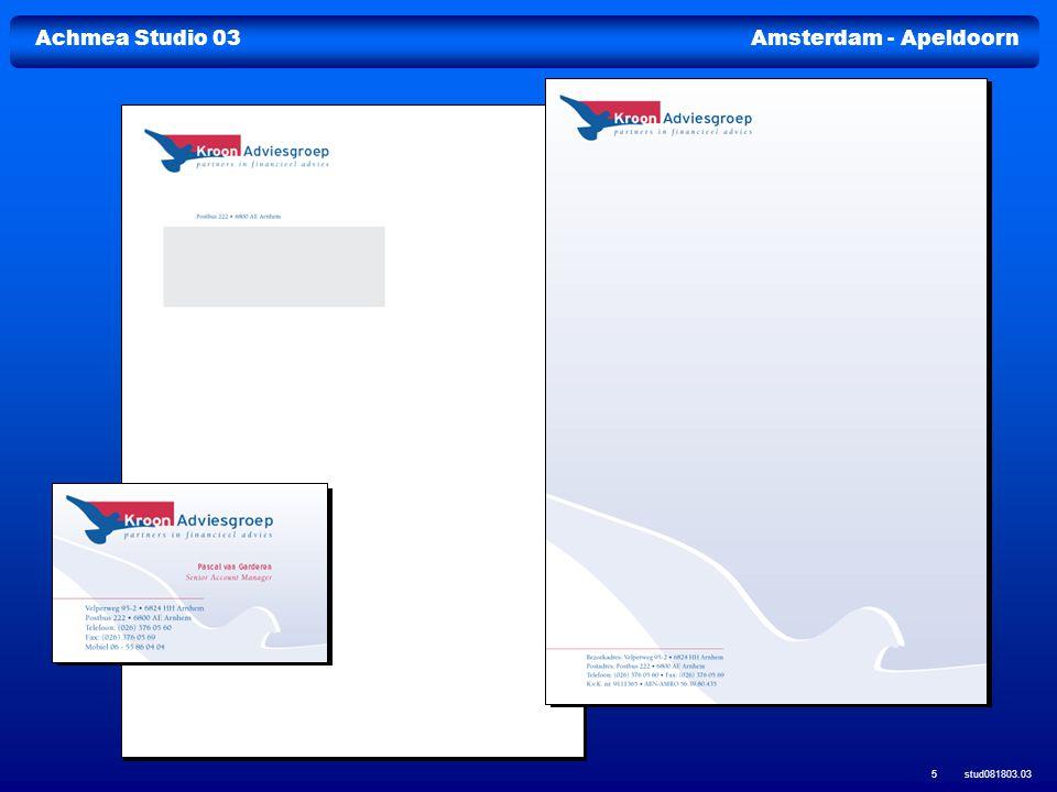 Achmea Studio 03Amsterdam - Apeldoorn stud081803.03 16 Logo/huisstijl Company profile brochure Company profile brochure Nieuwsbrieven Prospectussen en verslagen Prospectussen en verslagen Powerpointpresentaties Merkopbouw
