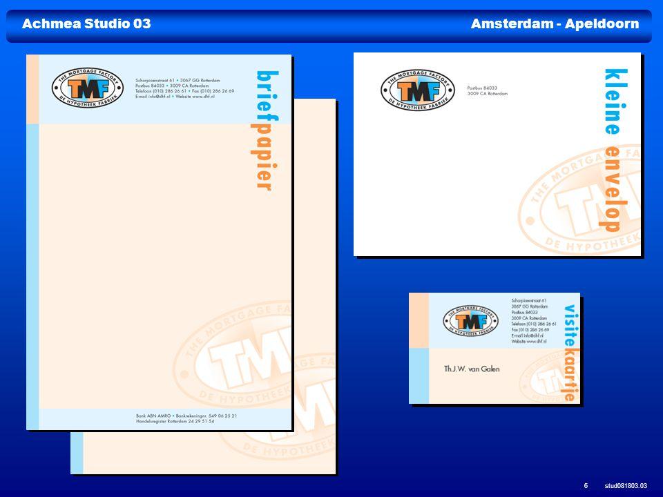 Achmea Studio 03Amsterdam - Apeldoorn stud081803.03 37 Marktbewerking MailactiesProspectadressenProductbrochures Analyse Relatiebestanden Relatie-enquêtesE-commerce