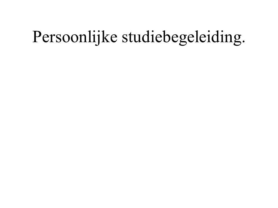 Persoonlijke studiebegeleiding.