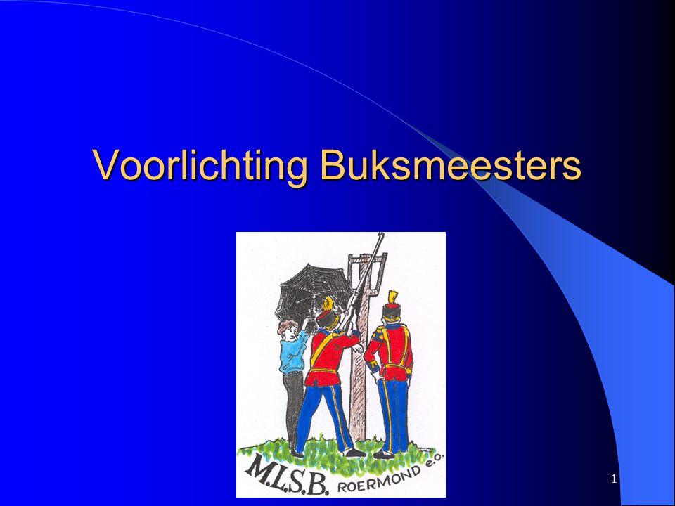 12 Voorlichting Buksmeesters Controle mondingsnelheid en veiligheid buksen.