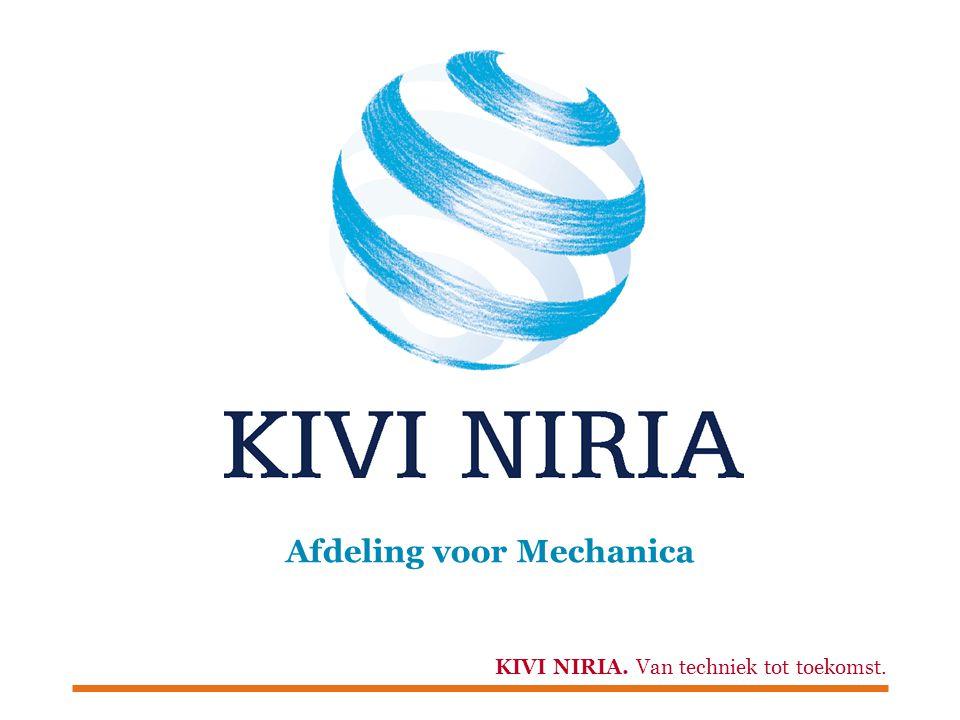 KIVI NIRIA. Van techniek tot toekomst. Afdeling voor Mechanica