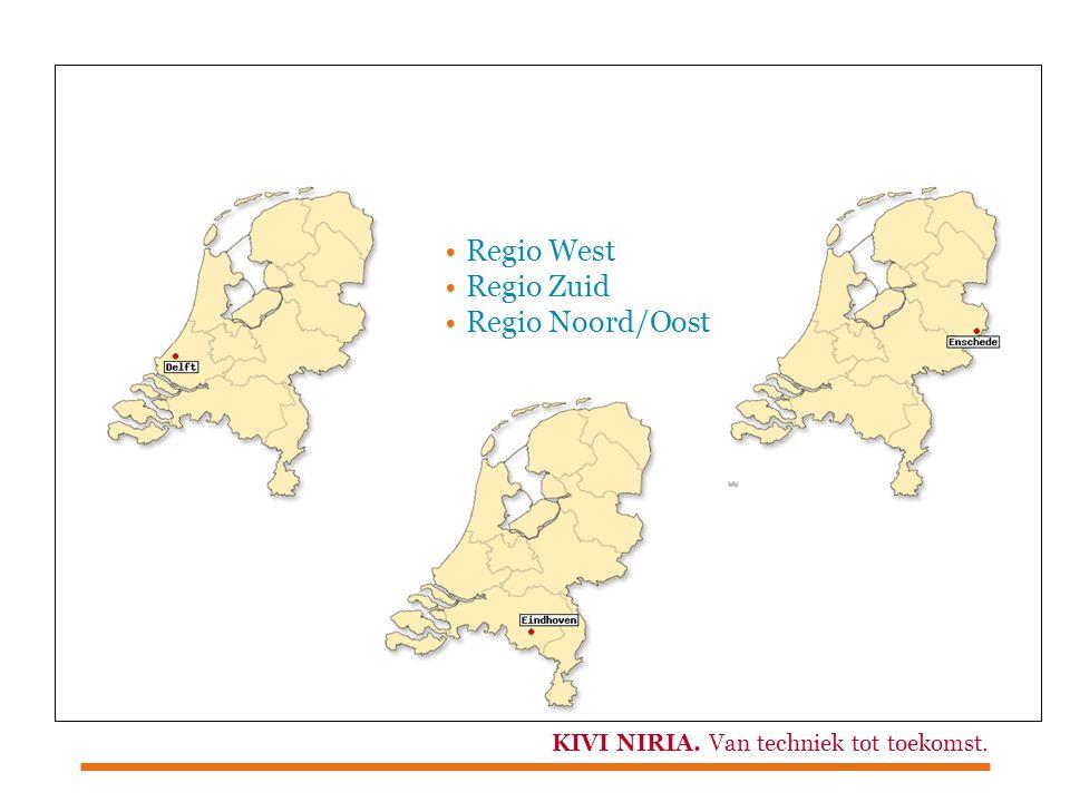 KIVI NIRIA. Van techniek tot toekomst. Regio West Regio Zuid Regio Noord/Oost