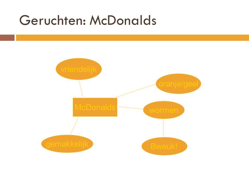 Geruchten: McDonalds McDonalds vriendelijk oranje/geel wormen Bweuk! gemakkelijk