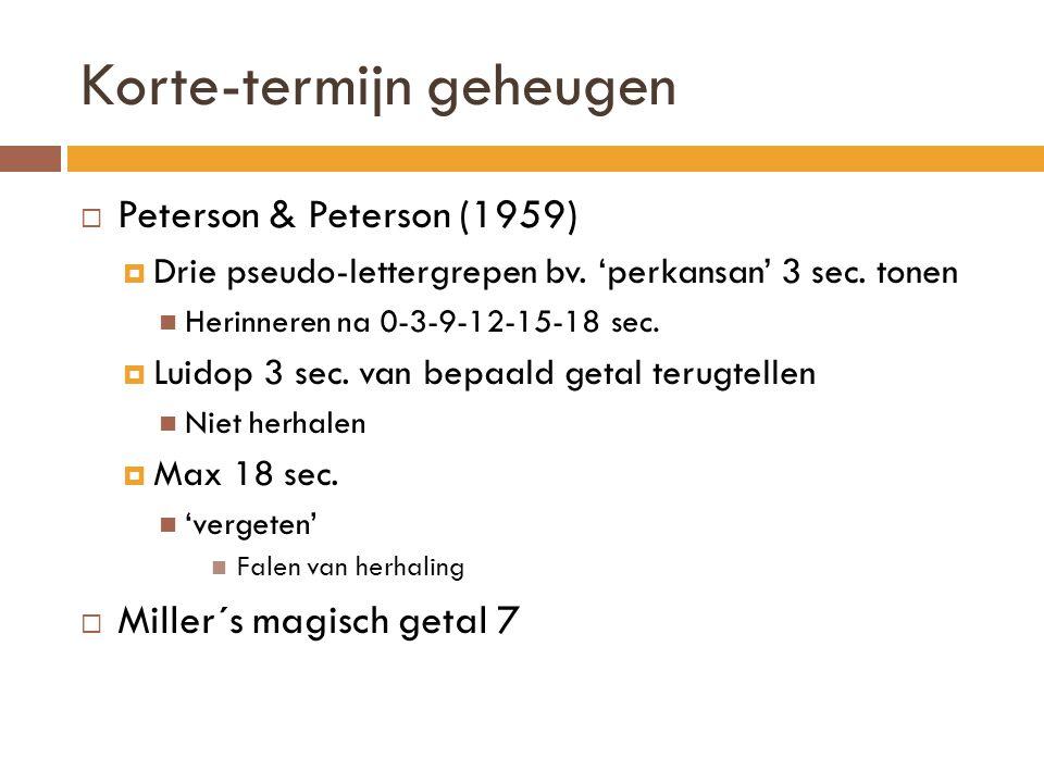 Organisatieprincipe (Bower, Clark, Lesgold, and Winzenz (1969) 3 100% 50% 0% Gestructureerde lijst Random lijst 1 2 4 Lijst van mineralen – ruw, veelvoorkomend, zeldzaam … herhaling