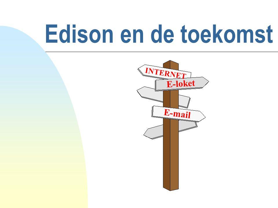 Algemeen overzicht n Schooldirect n Schooldirect en de Edison-helpdesk n E-mail in Edison (Route400) n Edison Web Prototype n E-loket diensten (e-government) n Discussie toekomst Edison u Themaforums u Ideeënbus