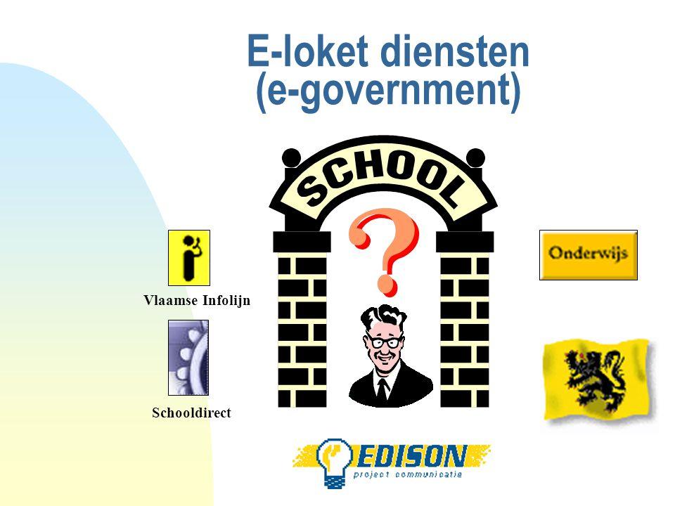 E-loket diensten (e-government) Vlaamse Infolijn Schooldirect