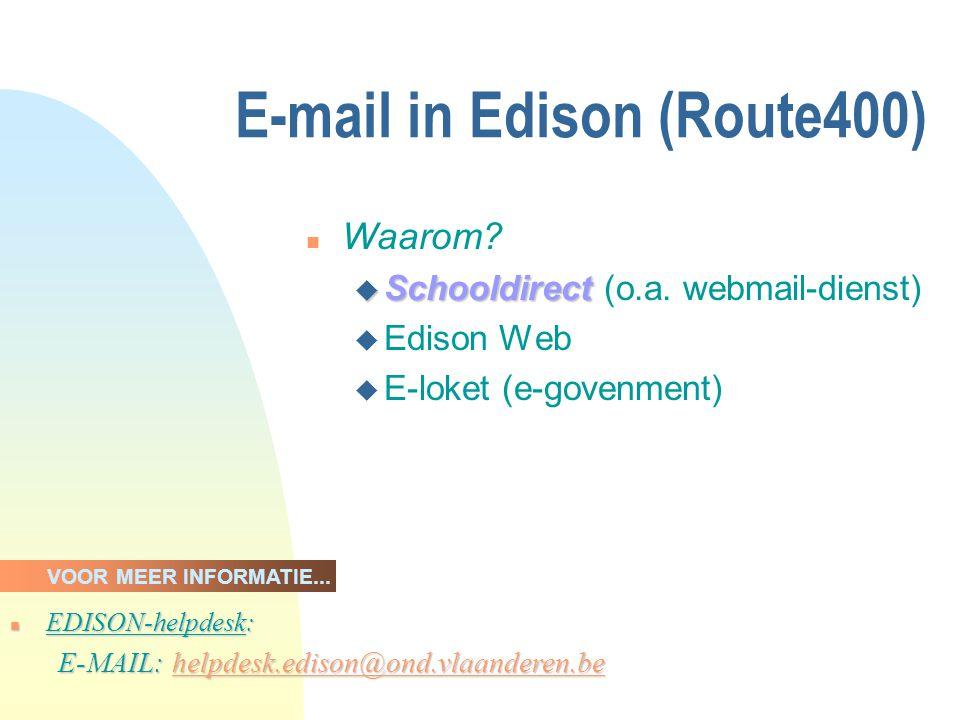 Edison Web Prototype n Functionaliteit: u verzonden zendingen; u gestructureerde terugzendingen; u leesbare terugzendingen (niet- gestructureerd).