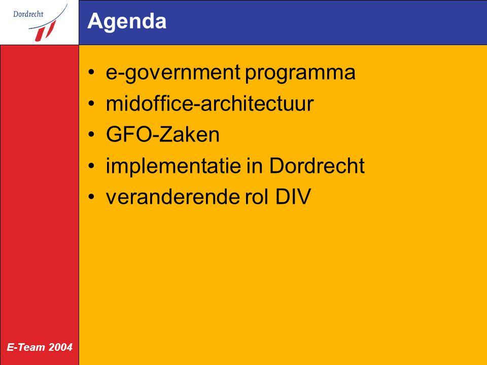 E-Team 2004 Status zaak via internet (m.b.t.