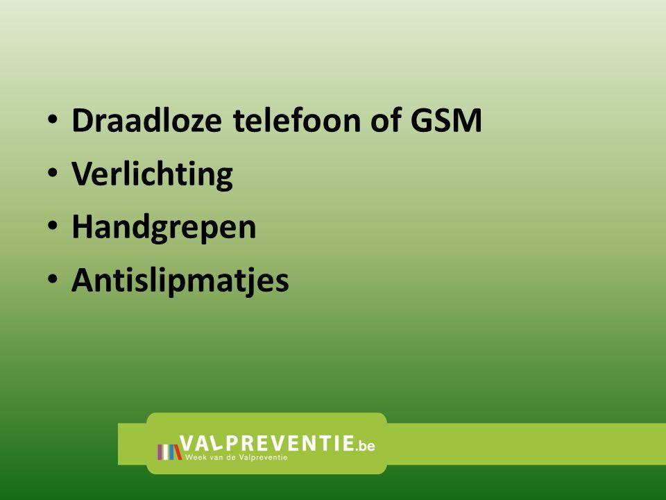 Draadloze telefoon of GSM Verlichting Handgrepen Antislipmatjes