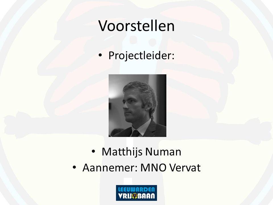 Voorstellen Projectleider: Matthijs Numan Aannemer: MNO Vervat