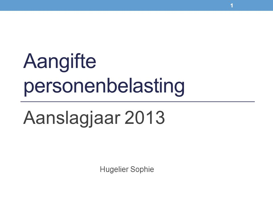 Hugelier Sophie & Wim Van Kerchove Diverse inkomsten van roerende aard 102 Vak VII.