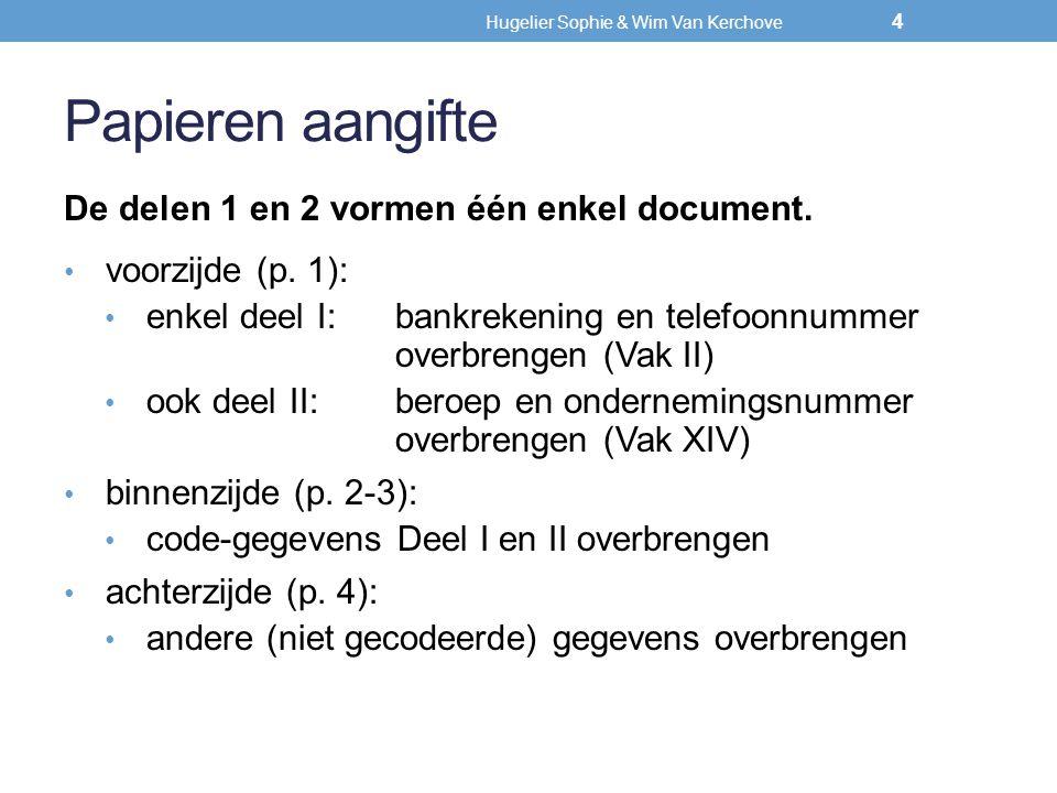 Hugelier Sophie & Wim Van Kerchove Overige interesten en dividenden ( ±) Heeft u inkomsten gemerkt met (±) (aangegeven of niet): Ik verklaar dat ik geen andere dan in mijn aangifte vermelde inkomsten heb verkregen die nog aanleiding kunnen geven tot de bijkomende heffing van 4 pct.