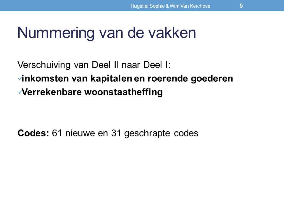 Hugelier Sophie & Wim Van Kerchove (privé)interesten en dividenden 46 Nieuwe onderverdeling voor interesten en dividenden: I.Steeds verplicht aan te geven(+) II.Nooit verplicht aan te geven (facultatief mag)(-) III.Overige: indien de totaliteit van de in 2012 verkregen interesten en dividenden( ±) nog aanleiding kan geven tot de 4 pct.