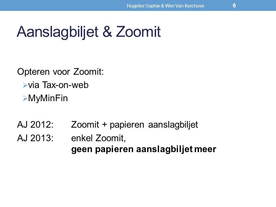 Hugelier Sophie & Wim Van Kerchove  Werknemer bewijst kosten niet (code 258 niet ingevuld); vrijstelling woon-werkverkeer van max.