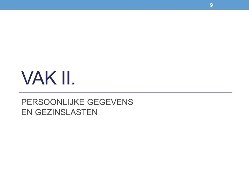Hugelier Sophie & Wim Van Kerchove Zie ook Lexfin, commentaar Personenbelasting > DEEL 6 Beroepsinkomsten van loon- en weddetrekkenden – vervangingsinkomsten > HOOFDSTUK 2 Belastbare inkomsten – Beroepskosten > 3 Voordelen van alle aard > 3.8 Forfaitaire waardering van het voordeel van alle aard > 3.8.11 Kosteloze verstrekking van verwarming en elektriciteit – water VAA gratis verwarming en elektriciteit Zie ook Lexfin, commentaar Personenbelasting > DEEL 6 Beroepsinkomsten van loon- en weddetrekkenden – vervangingsinkomsten > HOOFDSTUK 2 Belastbare inkomsten – Beroepskosten > 3 Voordelen van alle aard > 3.8 Forfaitaire waardering van het voordeel van alle aard > 3.8.11 Kosteloze verstrekking van verwarming en elektriciteit – water Voor inkomstenjaar 2012: - verwarming: VAA bedrijfsleider = 1.820 EUR/jaar - elektriciteit: VAA bedrijfsleider = 910 EUR/jaar + jaarlijkse indexatie van het forfait Voorwaarde: vennootschap = titularis van de facturen (KB van 23 februari 2012, B.S.