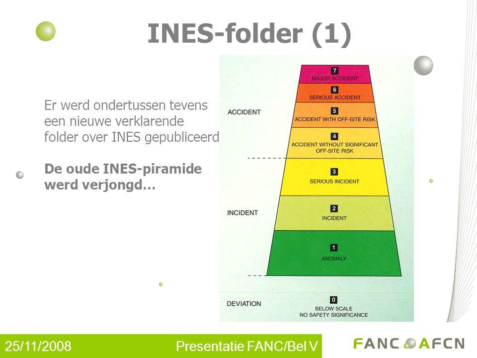 25/11/2008 Presentatie FANC/Bel V INES-folder (2)