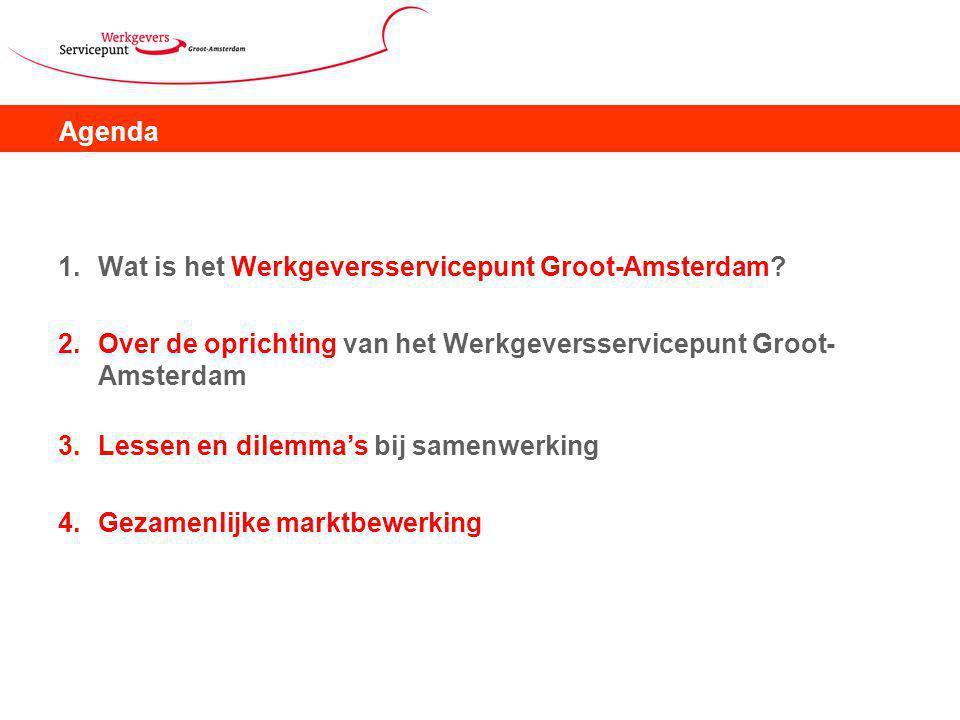Agenda 1.Wat is het Werkgeversservicepunt Groot-Amsterdam.