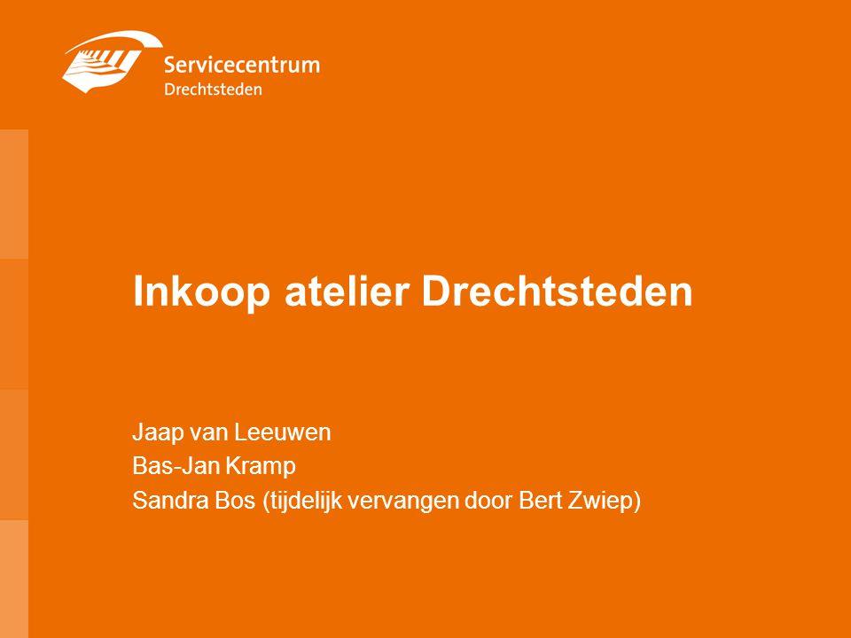 Inkoop atelier Drechtsteden Jaap van Leeuwen Bas-Jan Kramp Sandra Bos (tijdelijk vervangen door Bert Zwiep)