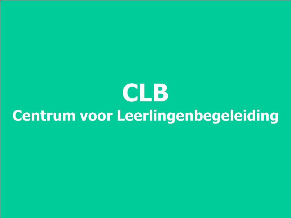 CLB Centrum voor Leerlingenbegeleiding