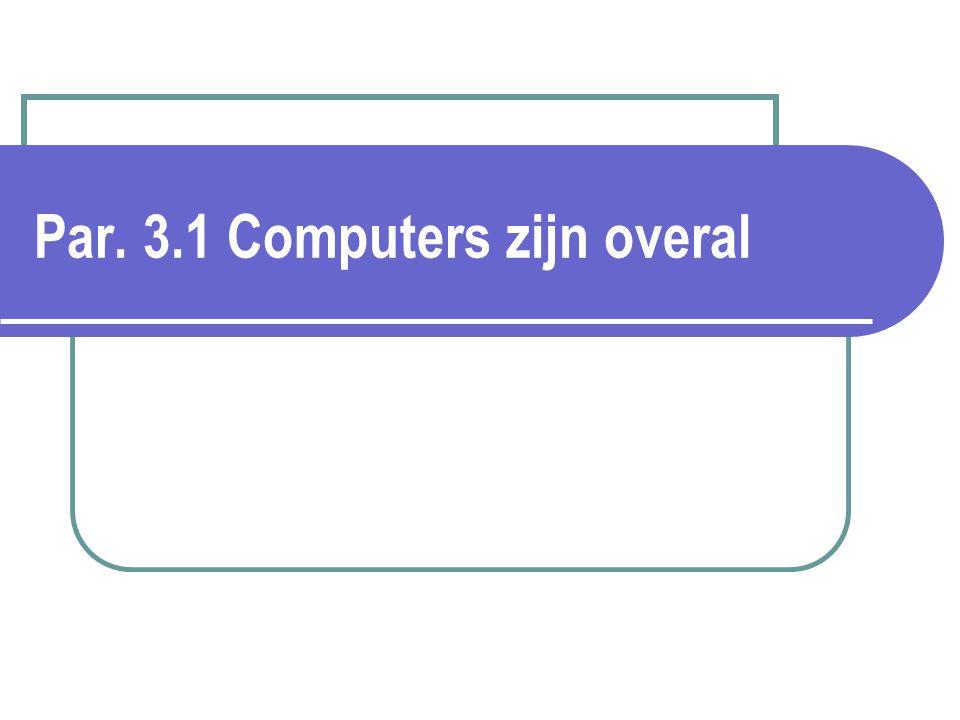 Par. 3.1 Computers zijn overal