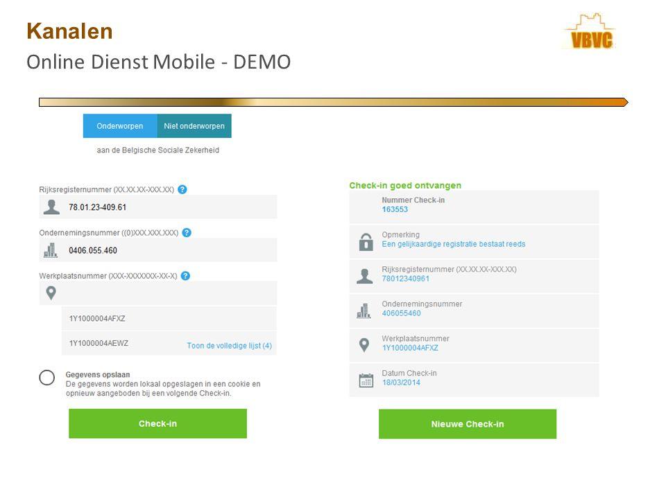 Kanalen Online Dienst Mobile - DEMO