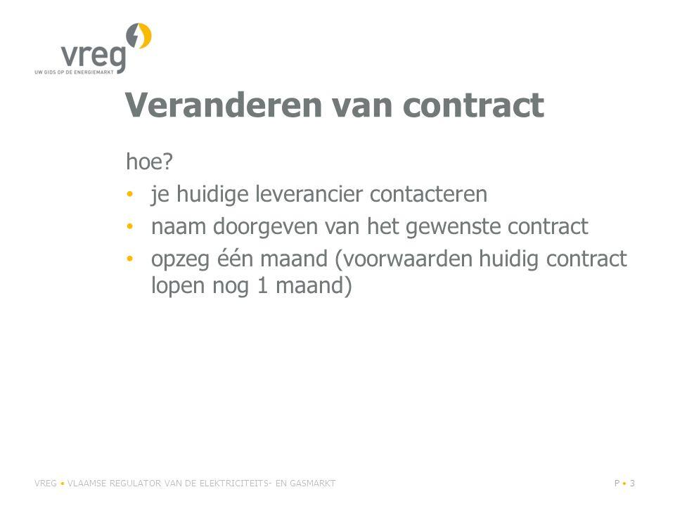 Veranderen van contract hoe.