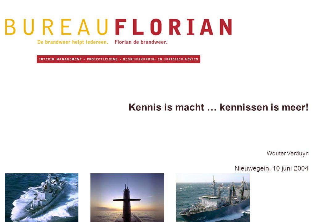 Kennis is macht … kennissen is meer! Wouter Verduyn Nieuwegein, 10 juni 2004