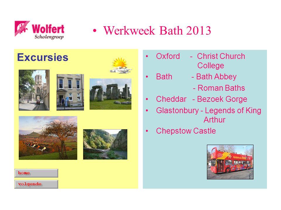 Excursies Oxford - Christ Church College Bath - Bath Abbey - Roman Baths Cheddar - Bezoek Gorge Glastonbury - Legends of King Arthur Chepstow Castle W