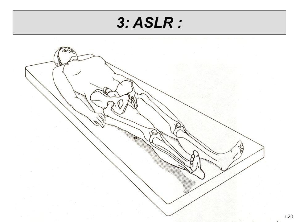 RGF congres. Bekken samen bekeken, 05-10-2010. 17 / 20 3: ASLR :