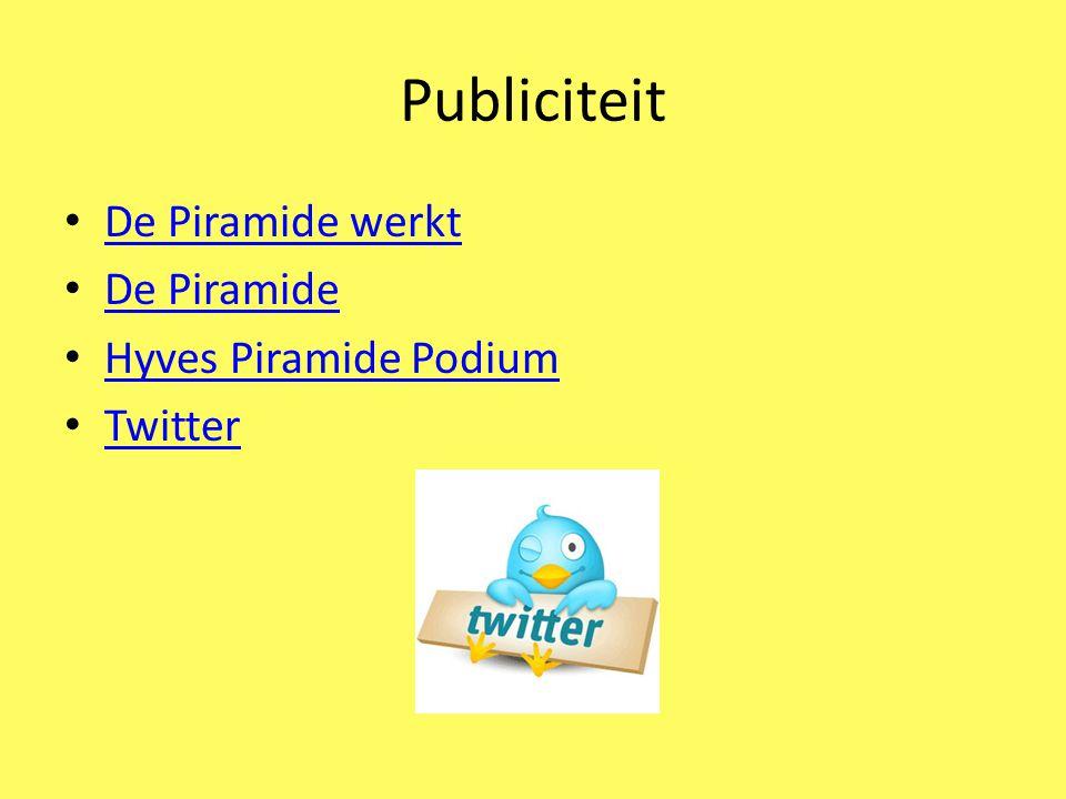 Officiële opening Piramide Podium Wij heten u graag welkom op vrijdag 28 januari 2011 meer informatie volgt binnenkort op de website, hyves en twitter