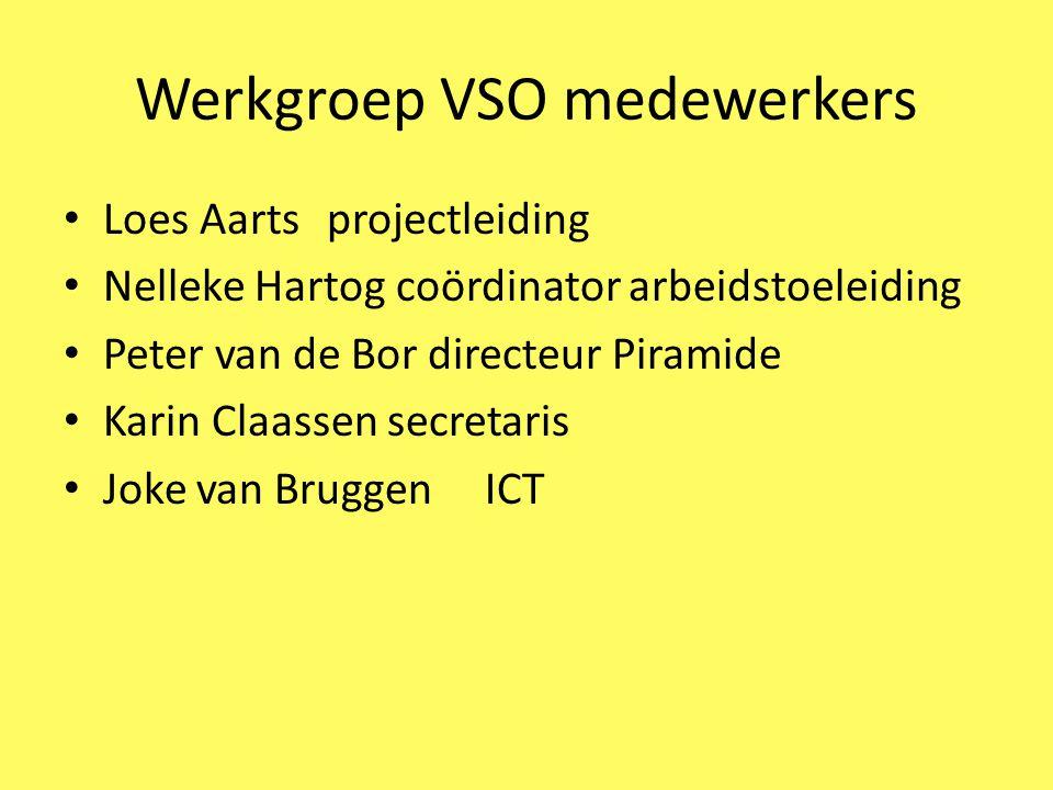 Werkgroep leerlingen Samenstelling: 4 leerlingen van de Haagse VMBO 4 leerlingen van VSO de Piramide Begeleiding: Anissa Abed (de Haagse) Loes Aarts