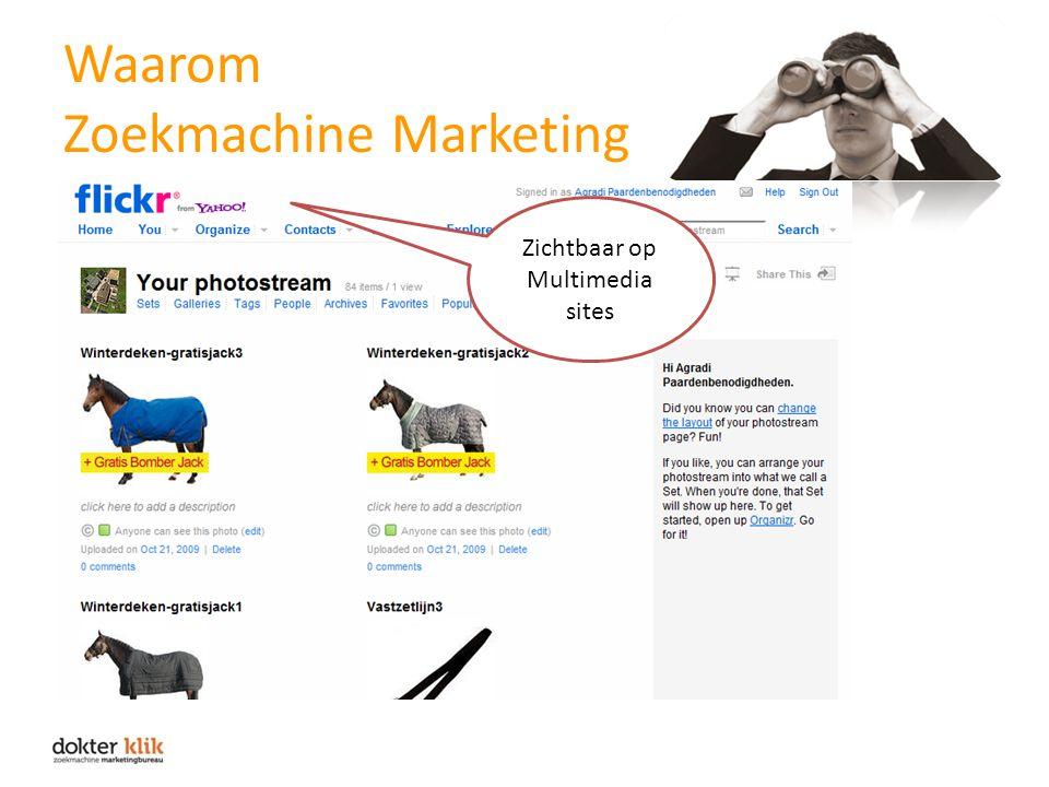 Waarom Zoekmachine Marketing Zichtbaar op Multimedia sites