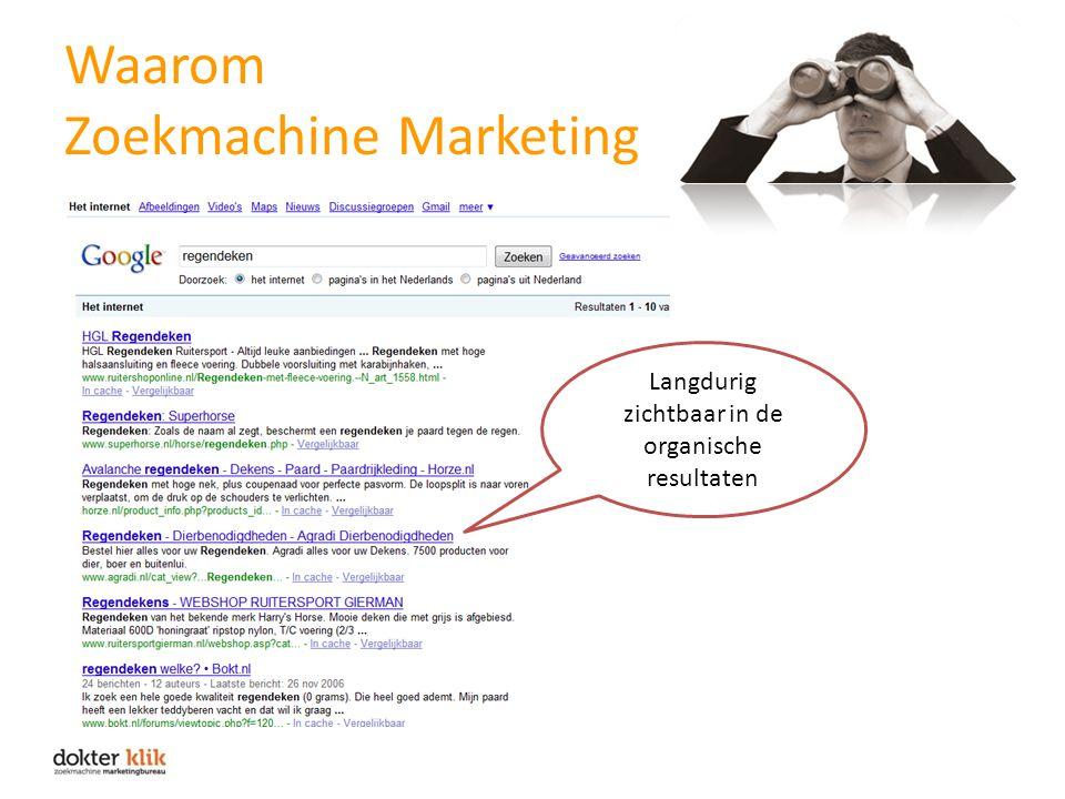 Waarom Zoekmachine Marketing Langdurig zichtbaar in de organische resultaten