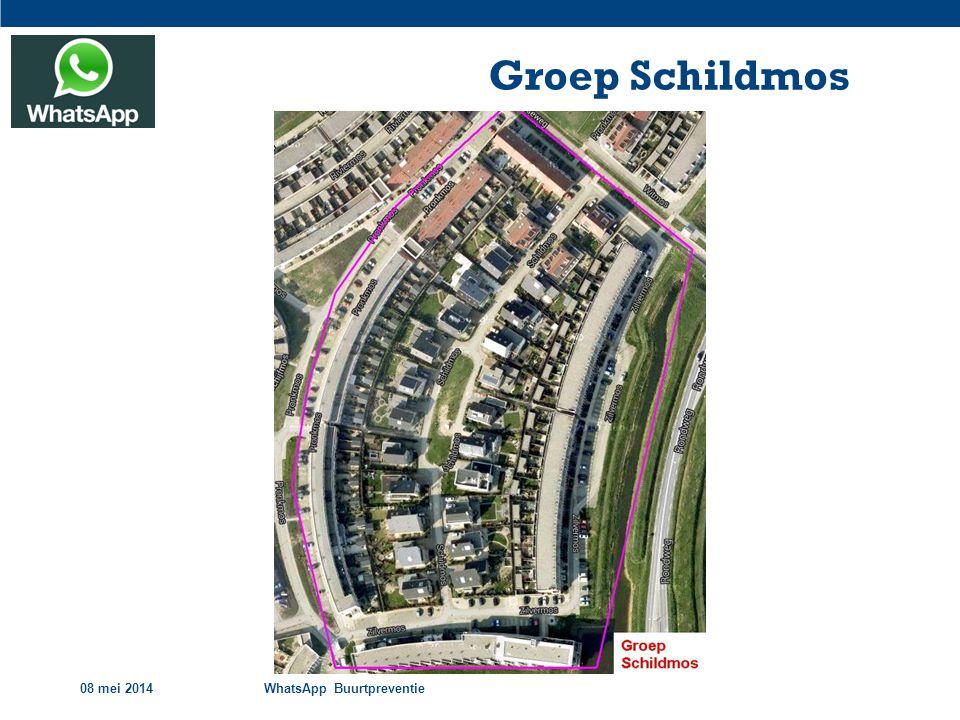 08 mei 2014WhatsApp Buurtpreventie Groep Schildmos