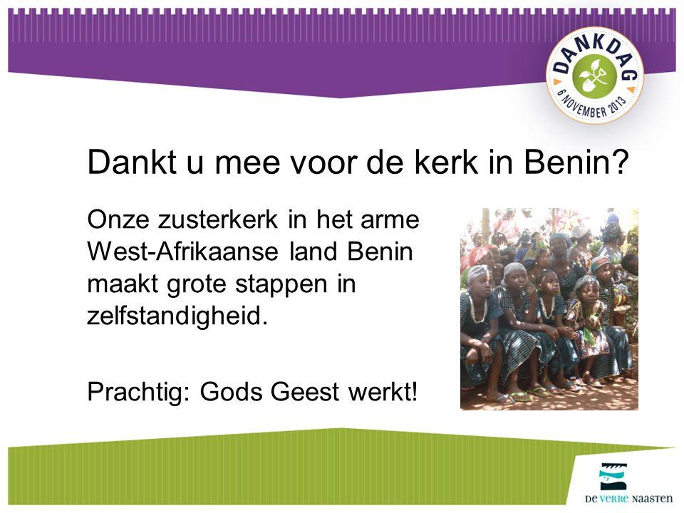 Geloof delen wereldwijd Onze geloofsgenoten mogen Jezus' liefde volop uitdelen, in Benin, in woorden en daden.