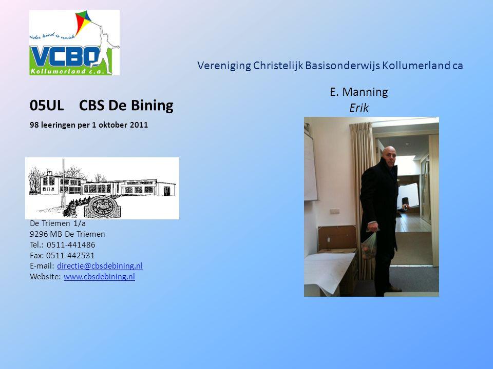 Vereniging Christelijk Basisonderwijs Kollumerland ca 05ULCBS De Bining E.